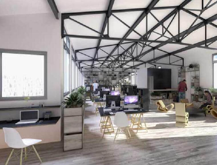 plan industrial style offices offered for rent
