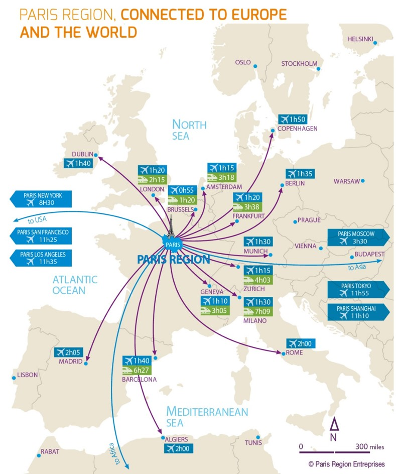 paris region connected to europe infrastructure